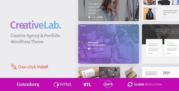 Creative Lab – Creative Studio Portfolio & Agency WordPress Theme