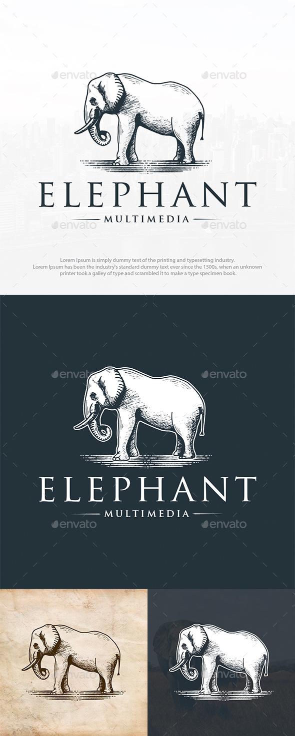 Wild Elephant Logo Template
