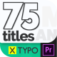 XTypo Titles - 75 Title Animations - VideoHive Item for Sale