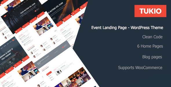 Tukio   Event Landing Page WordPress Theme