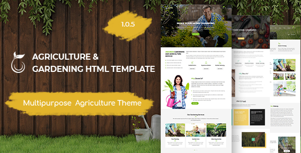 Unigreen - Agriculture and Gardening HTML Template