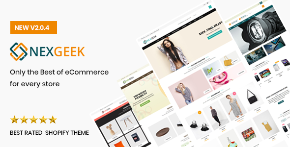 NexGeek - Multipurpose Responsive Shopify Theme(Sections Ready)