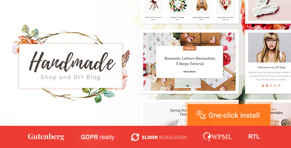 Handmade Shop - Handicraft Blog & Creative Store WordPress Theme