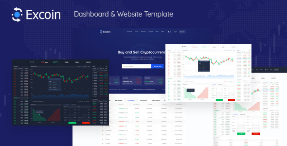 Excoin - Crypto Currency Trading Dashboard PSD Template
