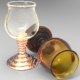 Ringed Stem Wine Glass - 3DOcean Item for Sale