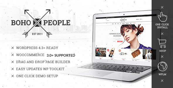 Bohopeople - Unique E-commerce WP Theme