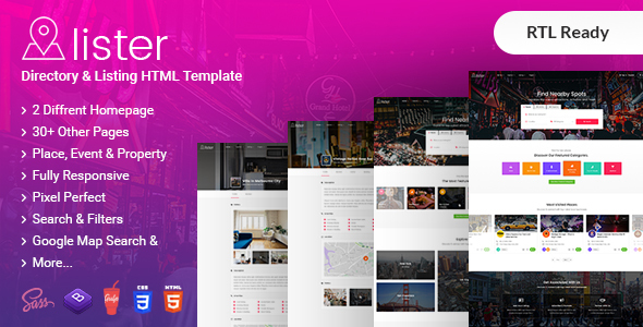 Directory Lister - Directory & Listing HTML + RTL Template