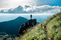 Hiker standing on the cliff - PhotoDune Item for Sale