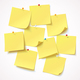 Yellow Stickers Pinned - GraphicRiver Item for Sale