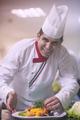 chef serving vegetable salad - PhotoDune Item for Sale
