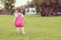 little girl spending time at backyard - PhotoDune Item for Sale
