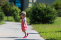 little girl runing in the summer Park - PhotoDune Item for Sale