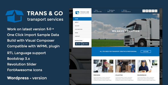 TransGo - Transport & Logistics WordPress Theme