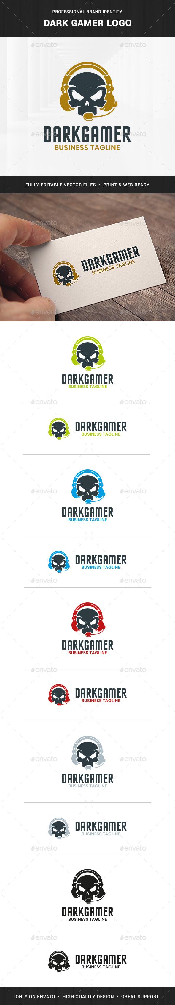 Dark Gamer Logo Template