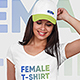 Female T-Shirt and Baseball Cap Mockup Vol4 - GraphicRiver Item for Sale