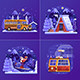 Winter Holidays on Skiing Mountain Resort - GraphicRiver Item for Sale