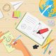 School Workplace Top View - GraphicRiver Item for Sale