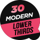 30 Modern Lower Thirds - VideoHive Item for Sale