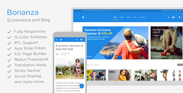 Bonanza - Responsive Multipurpose WooCommerce WordPress Theme
