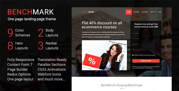 Benchmark - Multipurpose Landing Page WordPress Theme
