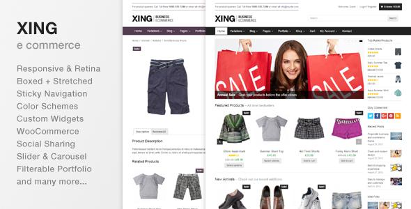 Xing – Business / ecommerce WordPress Theme