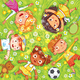 Children Lay on the Meadow - GraphicRiver Item for Sale