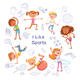 Children and Sports - GraphicRiver Item for Sale