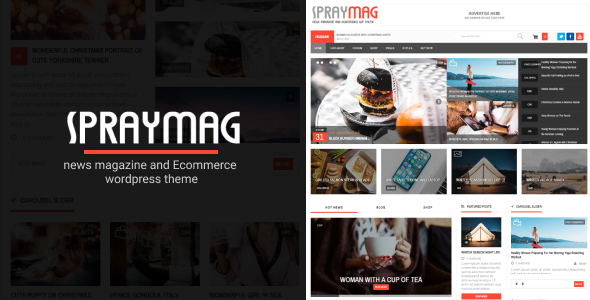 Spraymag - eCommerce, Magazine, Responsive Blog Theme