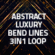 Abstract Luxury Bend Lines Loop 3in1 Background - VideoHive Item for Sale