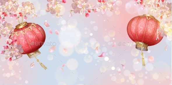 Traditional Spring Festival Background