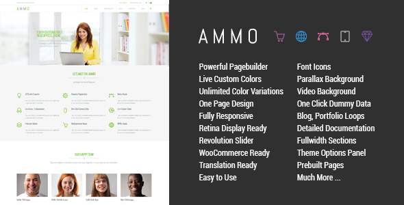 Ammo - Corporate MultiPurpose Theme