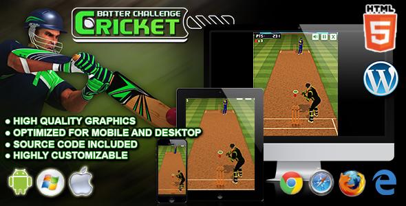 Cricket Batter Challenge - gra sportowa HTML5