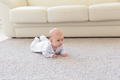 Family, childhood concept - Close up portrait of pretty baby lie on the floor - PhotoDune Item for Sale