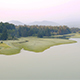 Aerial misty lakeside - VideoHive Item for Sale
