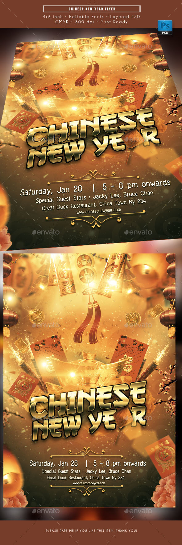 Event and Red Holiday Events Flyer Templates from