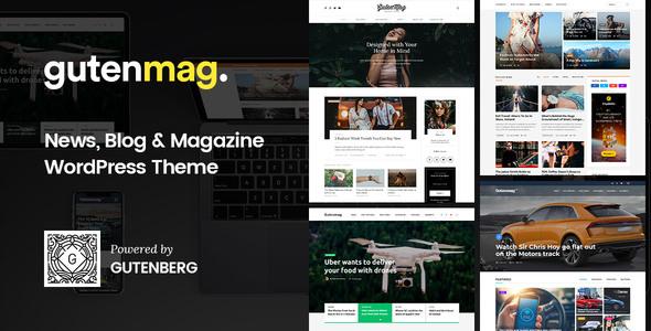 GutenMag - Newspaper, Magazine Theme