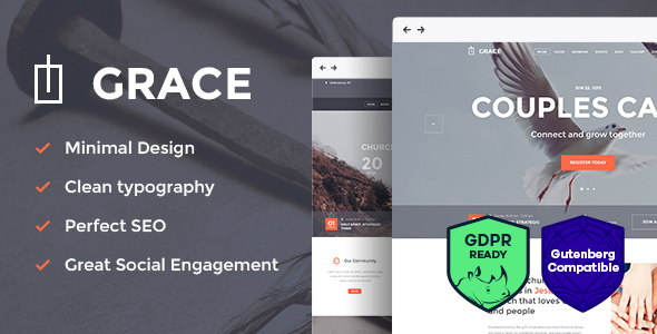 Grace - Church, Religion & Charity WordPress Theme Download