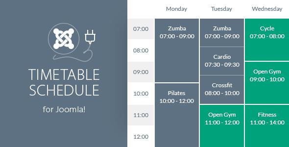Harmonogram responsywnych harmonogramów dla Joomla