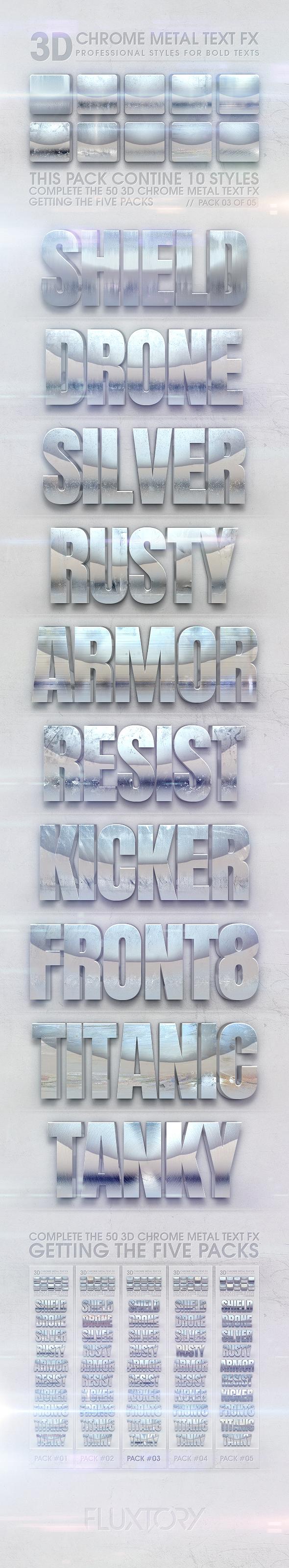 3D Chrome Metal Text FX 03 of 05