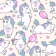 Vector Seamless Pattern with Little Unicorns - GraphicRiver Item for Sale