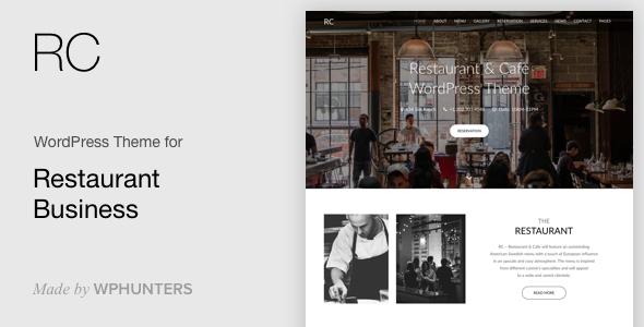 Rc - Restaurant & Cafe Onepage WordPress Theme
