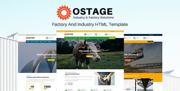 Ostage - Responsive Factory & Industry HTML Template