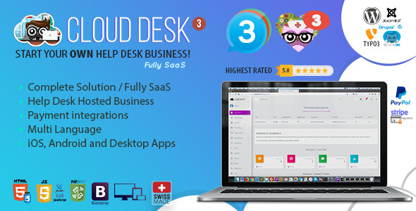 Cloud Desk 3 - The Fully Saas Support Solution