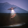Unidentified Flying Object Alien Abduction Clipping Path - PhotoDune Item for Sale