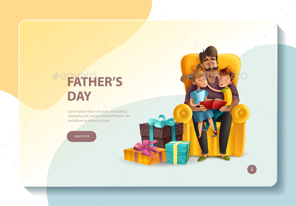 Fathers Day Concept Banner