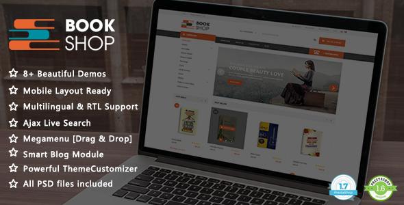 Book Shop - Ebooks and Library Responsive PrestaShop 1.7 & 1.6 Theme