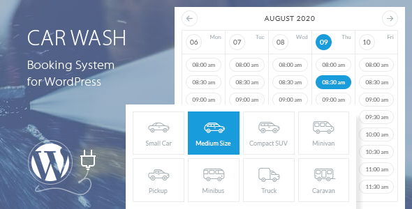 Photo of Car Wash Booking System For WordPress Full Download