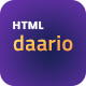 DAARIO - Corporate Portfolio HTML template - ThemeForest Item for Sale