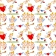 Seamless Pattern with Cartoon Cupids - GraphicRiver Item for Sale