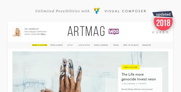 Artmag Magazine & Shop WordPress Theme